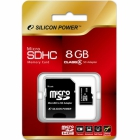 Карта памяти Silicon Power MicroSD 8GB Class10